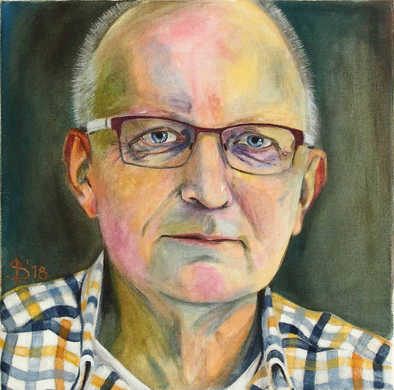 Portrait eines Mannes gemalt von Stephanie Bahrke