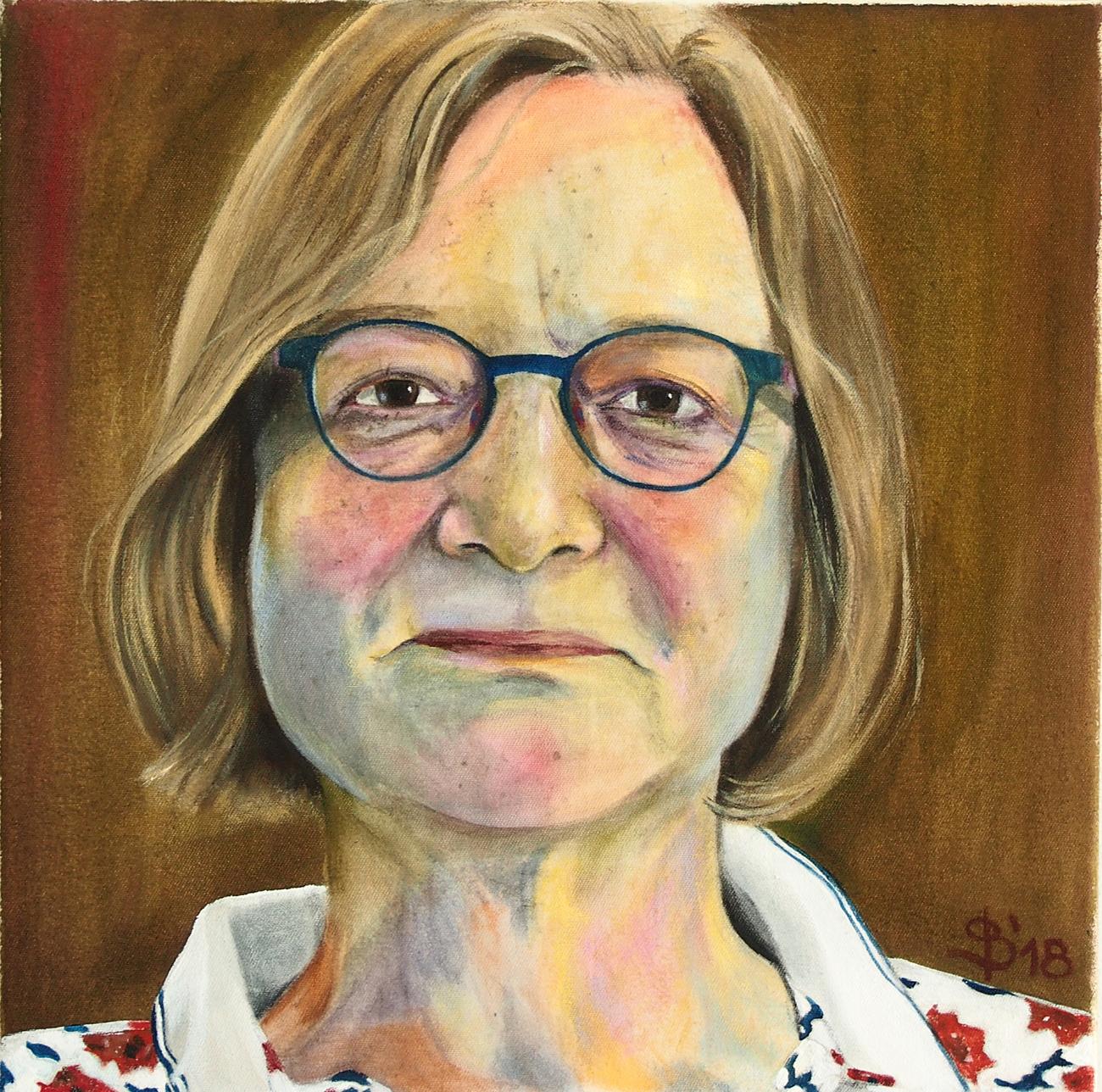 Frauenportrait gemalt von Stephanie Bahrke