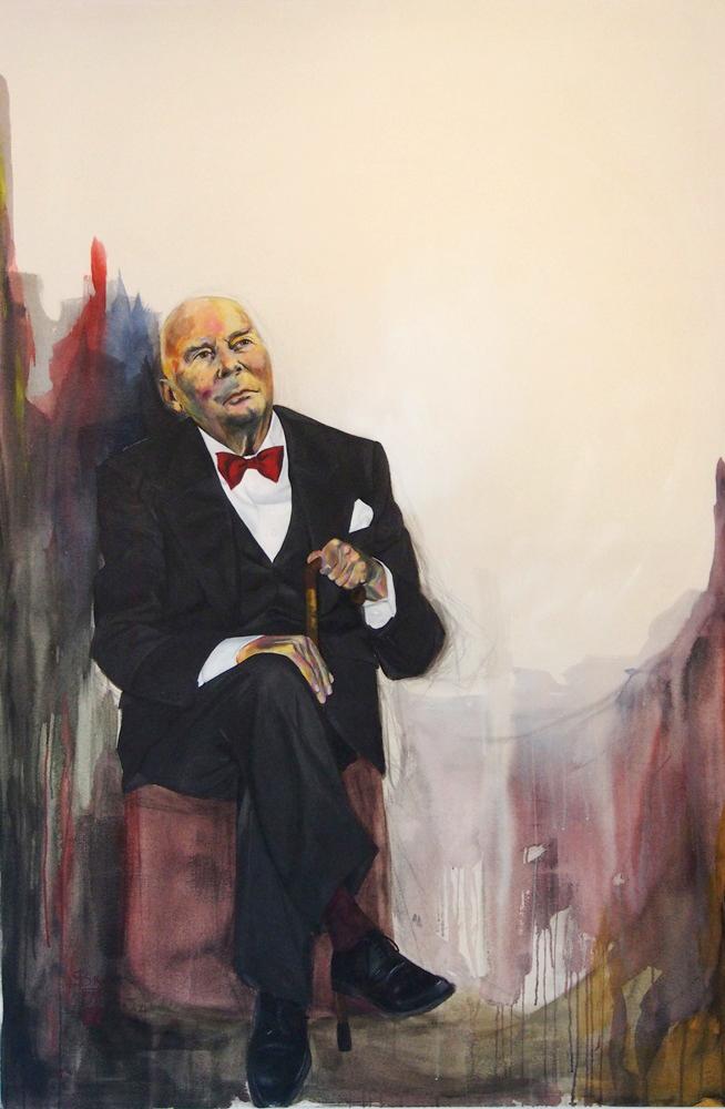 Hans Werner Henze gemalt von Stephanie Bahrke