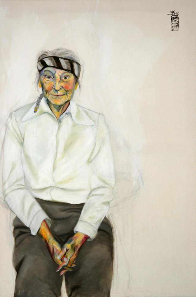 ältere, demente Dame gemalt von Stephanie Bahrke