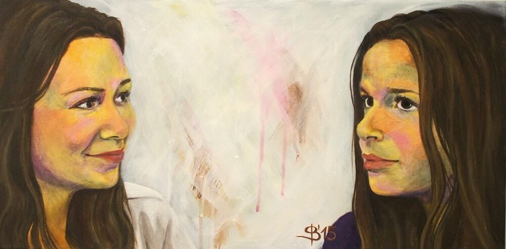 Schwestern gemalt von Stephanie Bahrke