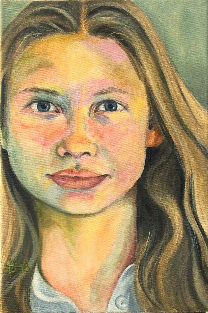 Portrait eines Mädchens gemalt von Stephanie Bahrke