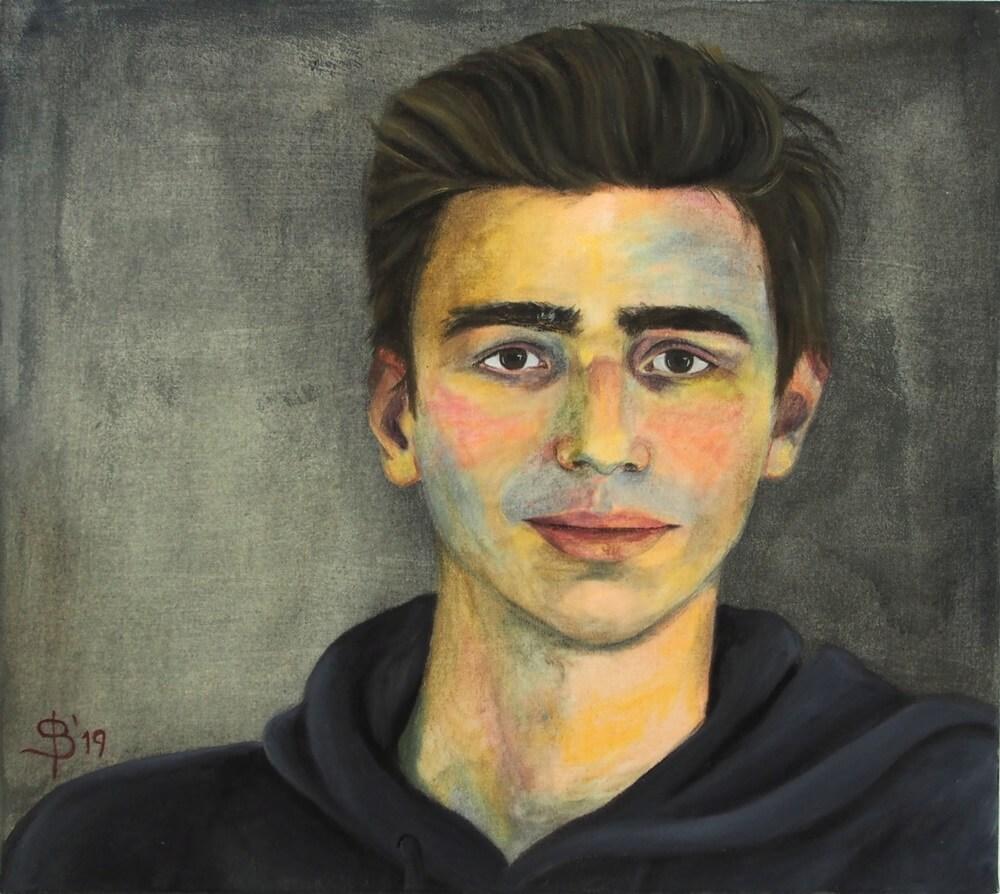 Portrait eines Jungen gemalt von Stephanie Bahrke