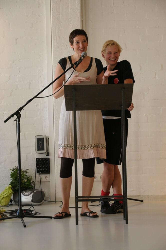 Jana Schulz und Stephanie Bahrke