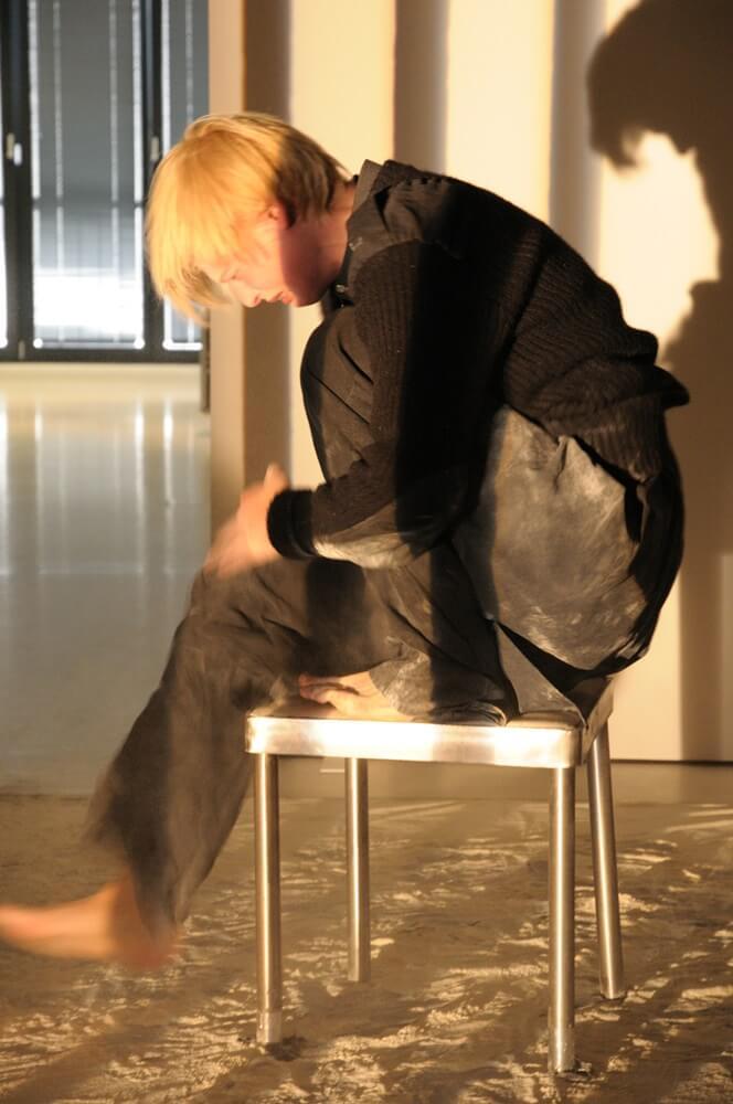 Die Schauspielerin Jana Schulz in der Rolle des [filo'tas]