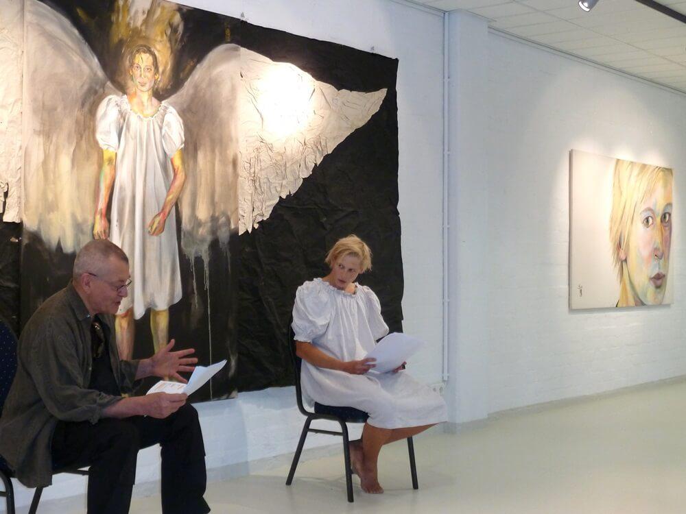 Jana Schulz und Christoph Roethel bei der Lesung