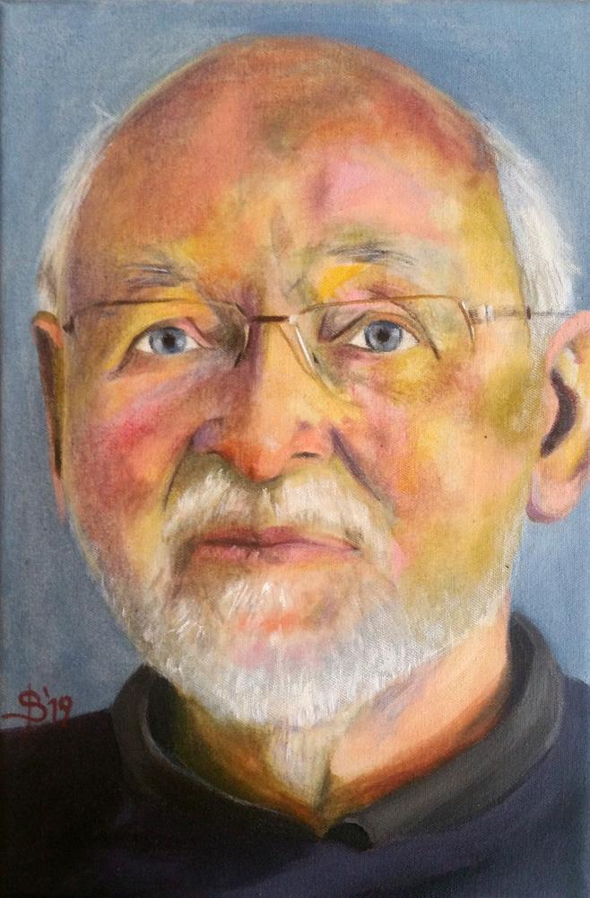 Älterer Herr gemalt von Stephanie Bahrke