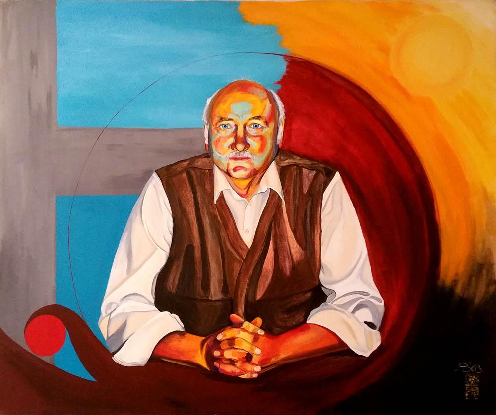Portrait meines Vaters, am Tisch sitzend