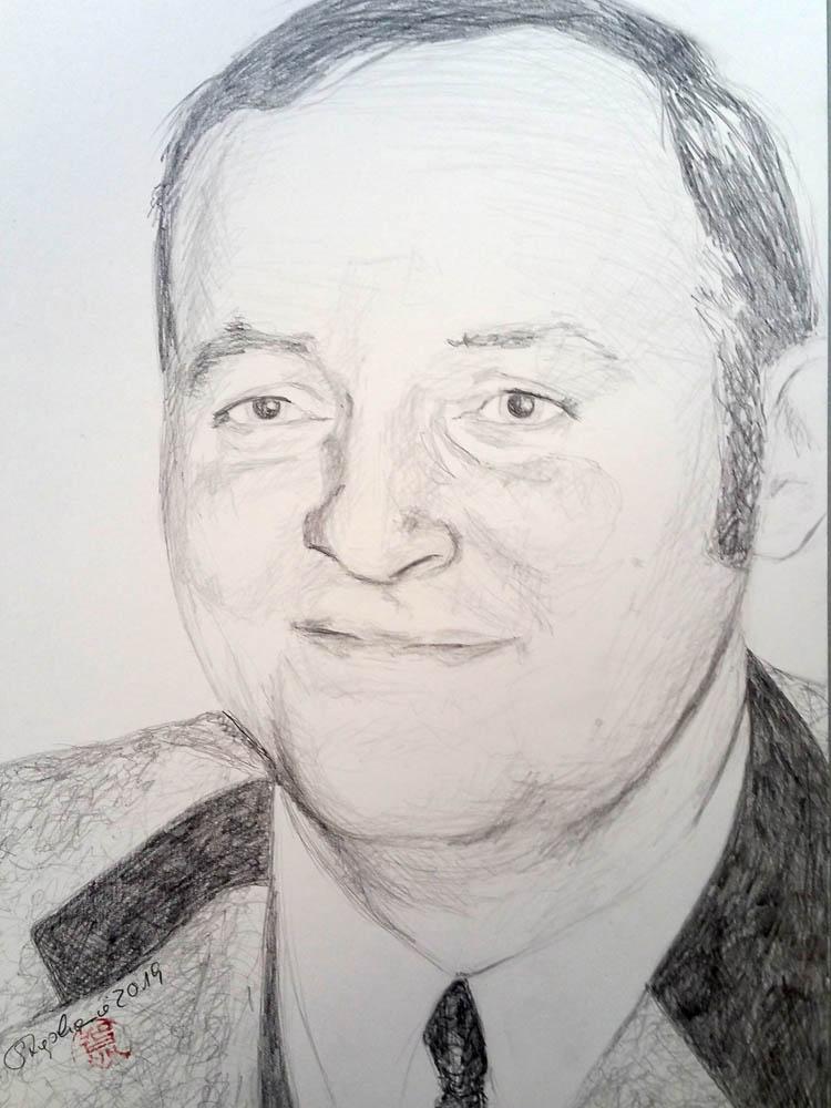 Mein Vater um 1970, Zeichnung