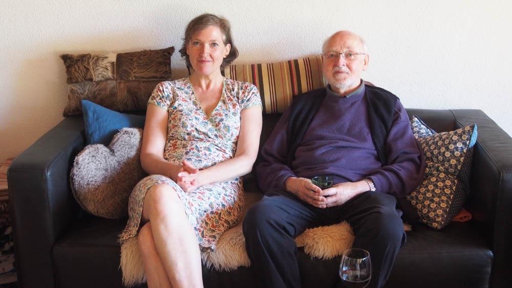 ein Foto von Vater und Tochter