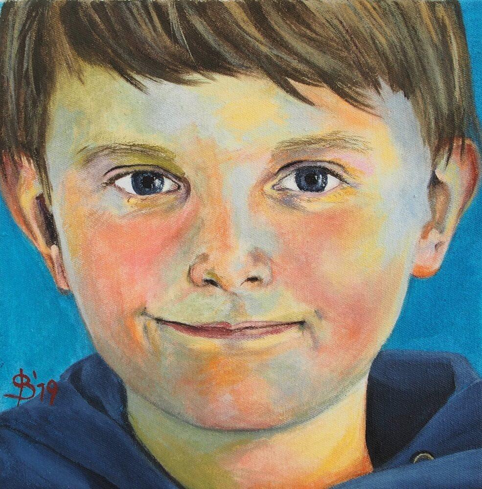 Portrait eines Jungen, Portraitmalerei Hamburg