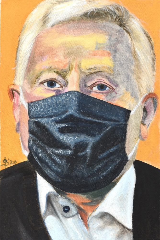 Portrait mit Maske